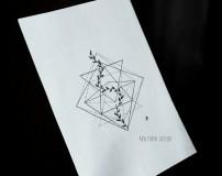 Эскиз тату геометрия