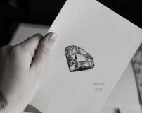 Эскиз тату диамант