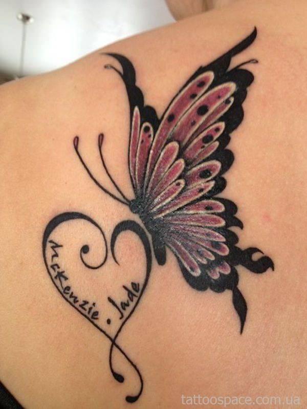 Бабочка и татуировка имени