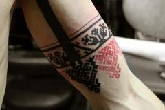 славянские орнаменты тату на руке
