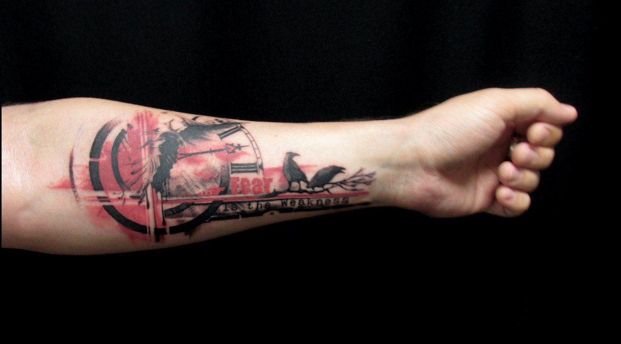Татуировки в стиле Trash polka