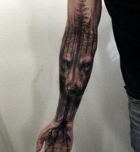 татуировка леса у мужчин