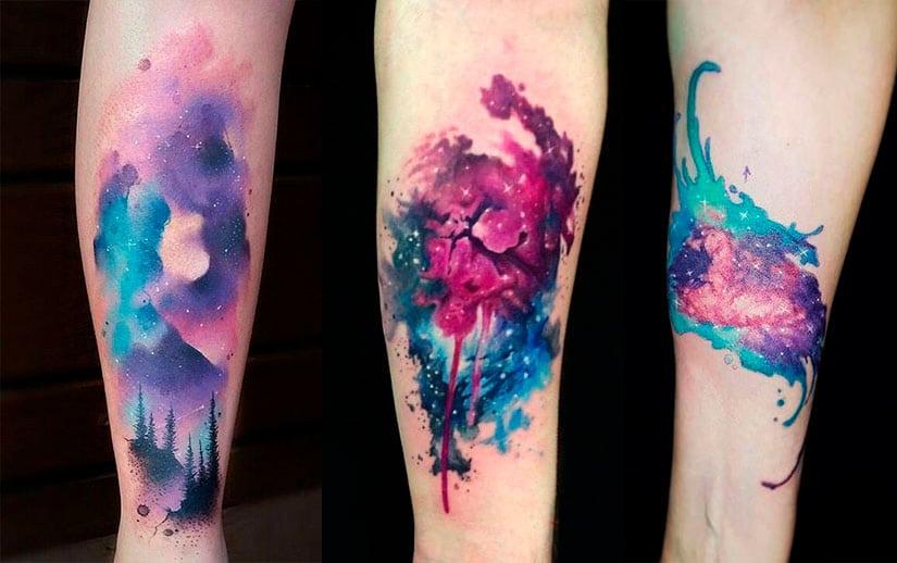 татуировка космоса на руке