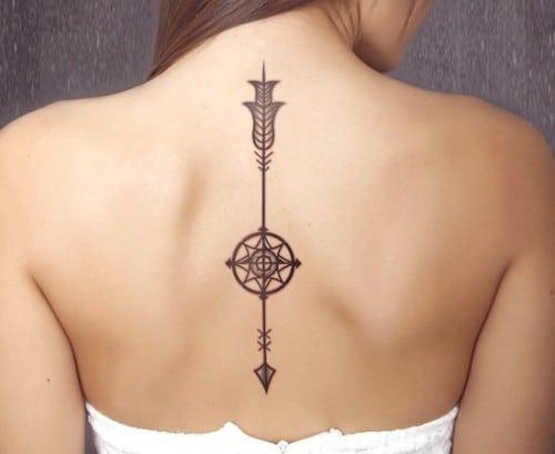 татуировка стрелы у женщин