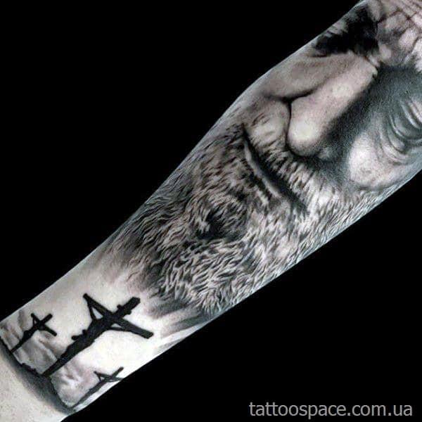 христианская татуировка иисуса