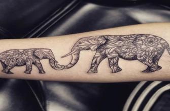 тату слона